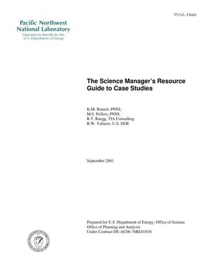 Primary view of object titled 'The Science Manager's Guide to Case Studies'.
