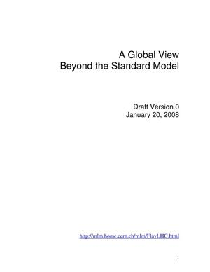 Primary view of object titled 'A Global View Beyond the Standard Model'.