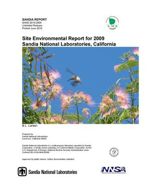 Primary view of object titled 'Site environmental report for 2009 : Sandia National Laboratories, California.'.