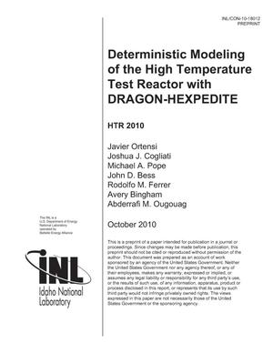 Primary view of object titled 'Deterministic Modeling of the High Temperature Test Reactor with DRAGON-HEXPEDITE'.