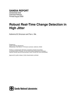 Primary view of object titled 'Robust real-time change detection in high jitter.'.