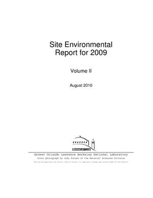 Primary view of object titled 'Site Environmental Report for 2009, Volume 2'.