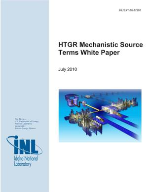 Primary view of object titled 'HTGR Mechanistic Source Terms White Paper'.