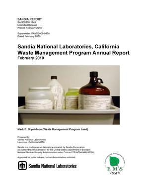 Primary view of object titled 'Sandia National Laboratories, California Waste Management Program annual report.'.