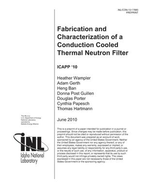 Primary view of object titled 'Fabrication and Characterization of a Conduction Cooled Thermal Neutron Filter'.