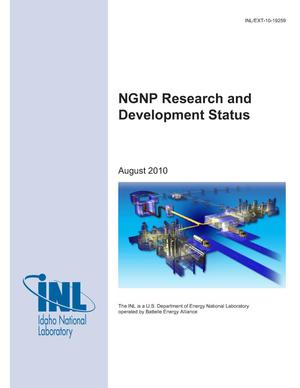 Primary view of object titled 'NGNP Research and Development Status'.