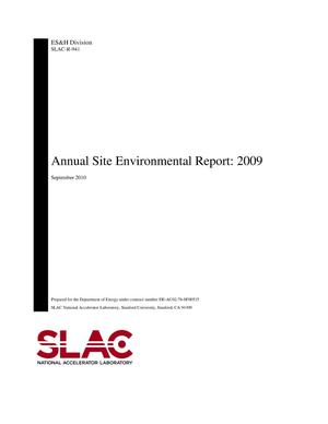 Primary view of object titled 'Annual Site Environmental Report: 2009(ASER)'.