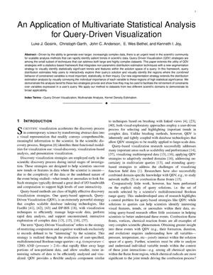 Primary view of object titled 'An Application of Multivariate Statistical Analysis for Query-Driven Visualization'.