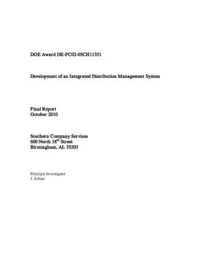 Primary view of object titled 'Development of an Integrated Distribution Management System'.