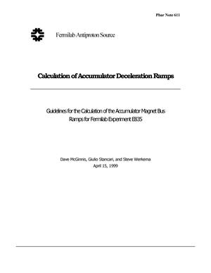 Primary view of object titled 'Guidelines for the Calculation of the Accumulator Magnet Bus Ramps for Fermilab Experiment E835'.