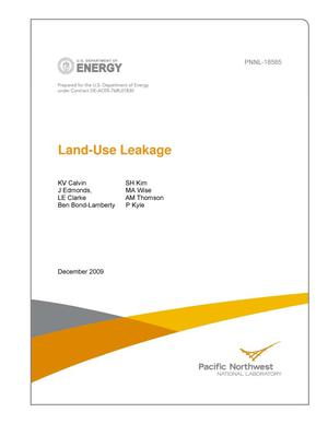 Primary view of object titled 'Land-use Leakage'.
