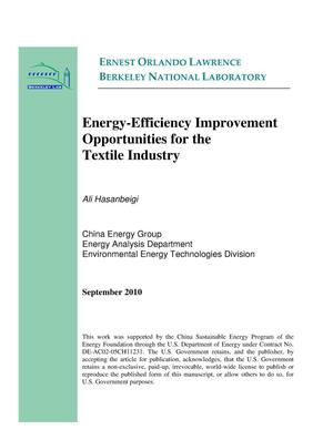 Primary view of object titled 'Energy-Efficiency Improvement Opportunities for the Textile Industry'.