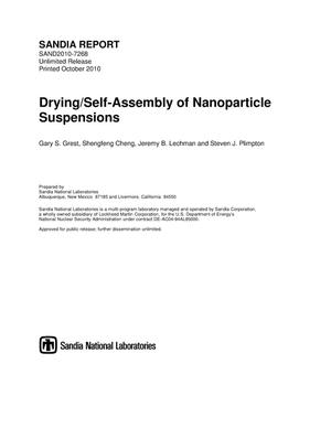 Primary view of object titled 'Drying/self-assembly of nanoparticle suspensions.'.