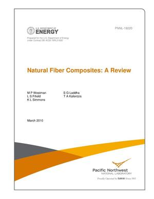 Primary view of object titled 'Natural Fiber Composites: A Review'.