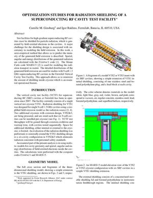 Primary view of object titled 'Optimization Studies for Radiation Shielding of a Superconducting RF Cavity Test Facility'.