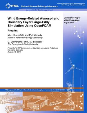 Primary view of object titled 'Wind Energy-Related Atmospheric Boundary Layer Large-Eddy Simulation Using OpenFOAM: Preprint'.