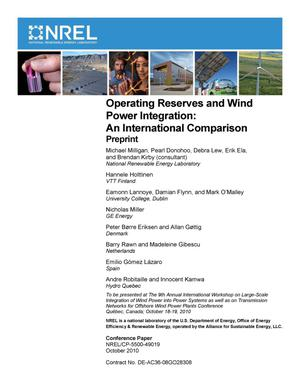 Primary view of object titled 'Operating Reserves and Wind Power Integration: An International Comparison; Preprint'.