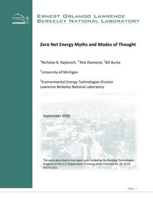 Primary view of object titled 'Zero Net Energy Myths and Modes of Thought'.