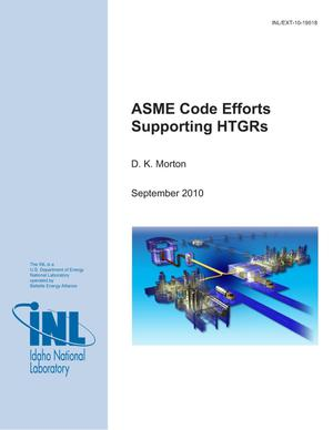 Primary view of object titled 'ASME Code Efforts Supporting HTGRs'.