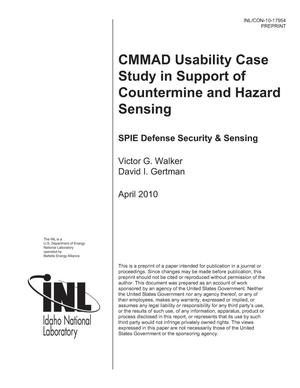 Primary view of object titled 'CMMAD Usability Case Study in Support of Countermine and Hazard Sensing'.