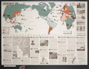 Primary view of object titled 'Newsmap. Monday, May 4, 1942 : week of April 24 to May 1'.