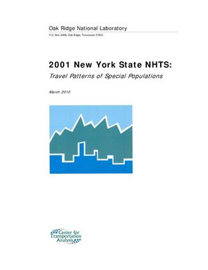 Primary view of object titled '2001 New York State NHTS: Travel Patterns of Special Populations'.