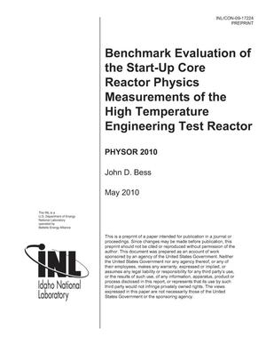 Primary view of object titled 'BENCHMARK EVALUATION OF THE START-UP CORE REACTOR PHYSICS MEASUREMENTS OF THE HIGH TEMPERATURE ENGINEERING TEST REACTOR'.
