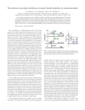 Primary view of object titled 'Two-electron time-delay interference in atomic double ionization by attosecond pulses'.