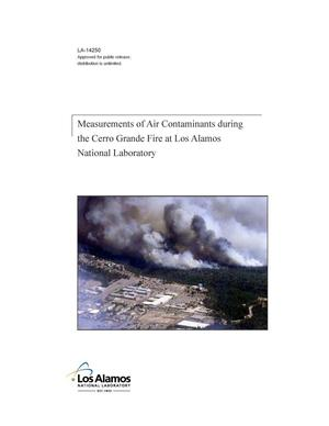 Primary view of object titled 'Measurements of air contaminants during the Cerro Grande fire at Los Alamos National Laboratory'.