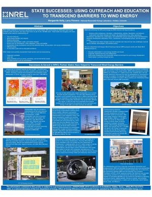 Primary view of object titled 'State Successes: Using Outreach and Eduction to Transcend Barriers to Wind Energy (Poster)'.