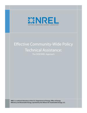 Primary view of object titled 'Effective Community-Wide Policy Technical Assistance: The DOE/NREL Approach (Brochure)'.