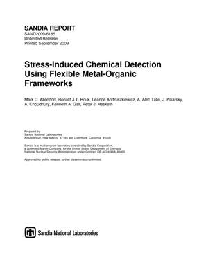 Primary view of object titled 'Stress-induced chemical detection using flexible metal-organic frameworks.'.