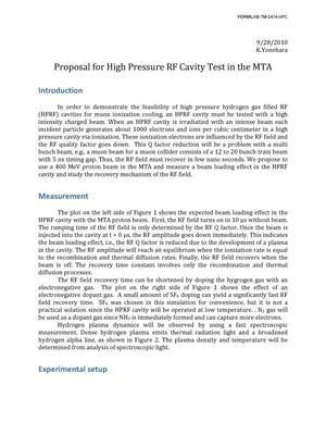 Primary view of object titled 'Proposal for high pressure RF cavity test in the MTA'.