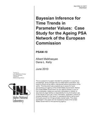 Primary view of object titled 'Bayesian Inference for Time Trends in Parameter Values: Case Study for the Ageing PSA Network of the European Commission'.
