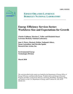 Primary view of object titled 'Energy Efficiency Services Sector: Workforce Size and Expectations for Growth'.