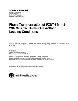 Primary view of object titled 'Phase transformation of PZST-86/14-5-2Nb ceramic under quasi-static loading conditions.'.