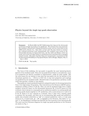Primary view of object titled 'Physics Beyond the Single Top Quark Observation'.