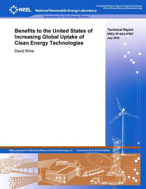 Primary view of object titled 'Benefits to the United States of Increasing Global Uptake of Clean Energy Technologies'.