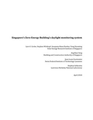 Primary view of object titled 'Singapore's Zero-Energy Building's daylight monitoring system'.