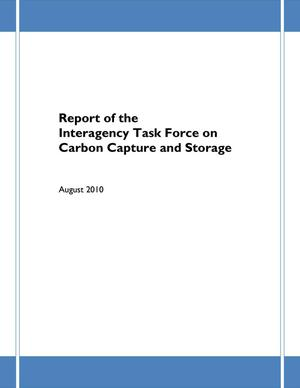 Primary view of object titled 'Report of the Interagency Task Force on Carbon Capture and Storage'.
