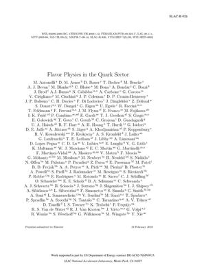 Primary view of object titled 'Flavor Physics in the Quark Sector'.
