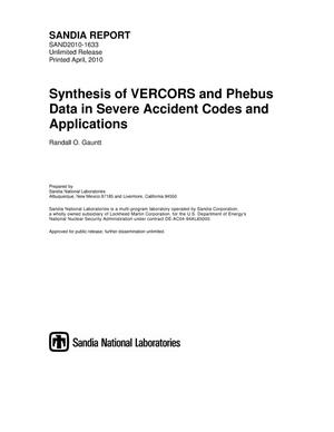 Primary view of object titled 'Synthesis of VERCORS and Phebus data in severe accident codes and applications.'.