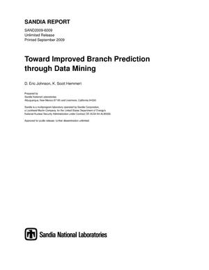 Primary view of object titled 'Toward improved branch prediction through data mining.'.