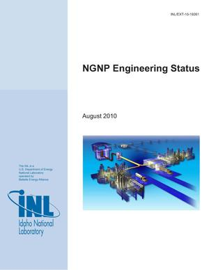 Primary view of object titled 'NGNP Engineering Status'.