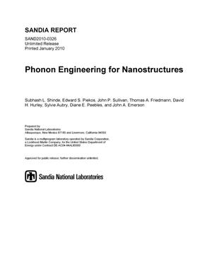 Primary view of object titled 'Phonon engineering for nanostructures.'.