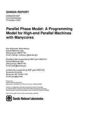 Primary view of object titled 'Parallel phase model : a programming model for high-end parallel machines with manycores.'.