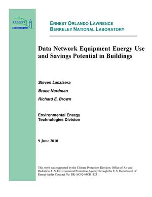 Primary view of object titled 'Data Network Equipment Energy Use and Savings Potential in Buildings'.