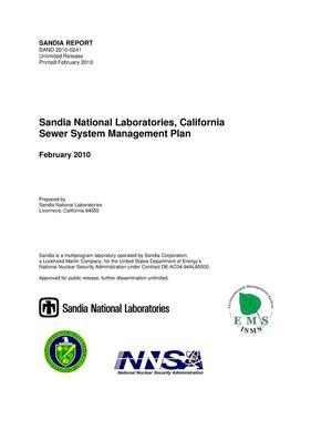 Primary view of object titled 'Sandia National Laboratories, California sewer system management plan.'.