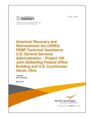 Primary view of object titled 'American Recovery and Reinvestment Act (ARRA) FEMP Technical Assistance U.S. General Services Administration – Project 195 John Seiberling Federal Office Building and U.S. Courthouse, Akron, Ohio'.