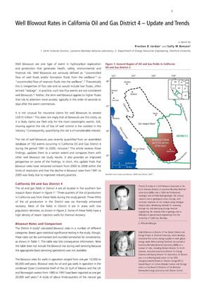 Primary view of object titled 'Well blowout rates in California Oil and Gas District 4--Update and Trends'.